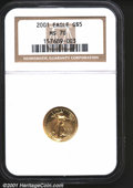 2001 G$5 Tenth-Ounce Gold Eagle MS70 NGC. Pristine....(PCGS# 9955)