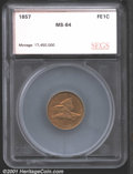 Additional Certified Coins: , 1857 1C FLY EAGLE