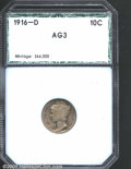 Additional Certified Coins: , 1916-D 10C