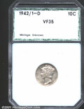 Additional Certified Coins: , 1942/1-D 10C