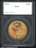 Additional Certified Coins: , 1925-D $20
