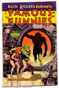 Golden Age (1938-1955):Science Fiction, Famous Funnies #213 (Eastern Color, 1954). Frank Frazetta cover.Condition: VG....