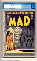 Golden Age (1938-1955):Humor, Mad #1(EC, 1952) CGC VF- 7.5, off-white to white pages. Overstreet 2001 FN 6.0 value = $1560; NM 9.4 value = $6500....