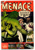 Golden Age (1938-1955):Horror, Menace #4 (Atlas, 1953). Condition: VG. Two interior pages torn....
