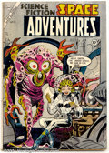Golden Age (1938-1955):Science Fiction, Space Adventures #12 (Charlton, 1954). Steve Ditko cover.Condition: VG....