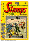 Golden Age (1938-1955):Non-Fiction, Stamps Comics #1 (Youthful Magazines, 1951). Condition: FN....
