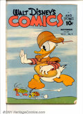 Golden Age (1938-1955):Funny Animal, Walt Disney's Comics and Stories #2 (Dell, 1942). Condition: GD;manufactured without lower staple; some tearing on inside p...