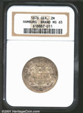 German States:Hamburg, 1876 MS65 NGC.