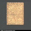 Colonial Notes:Continental Congress Issues, February 17, 1776, $1/3, Continental Congress Issue, CC-20, Fin...