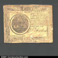 Colonial Notes:Continental Congress Issues, September 26, 1778, $7, Continental Congress Issue, CC-80, Fine...