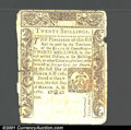 Colonial Notes:Connecticut, March 1, 1780, 20s, Connecticut, CT-224, VG, CC. Crisp overall,...