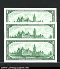 Miscellaneous:Other, Canada 1967 $1, three examples, Gem CU....