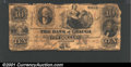 Obsoletes By State:Ohio, 1857 $10 Bank of Geauga, Painesville, OH, VG. ...