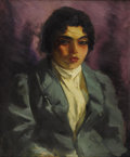Fine Art - Painting, American:Modern  (1900 1949)  , ROBERT HENRI (American 1865-1929). The Green Coat, circa1916. Oil on canvas. 24 x 20 inches (60.9 x 50.8 cm). Signed l...