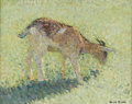 Fine Art - Painting, European:Modern  (1900 1949)  , HENRI JEAN GUILLAUME MARTIN (French 1860-1943). Goat, circa 1910-30. Oil on board. 12-1/2 x 16 inches (31.8 x 41.2 cm). ...