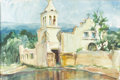 Texas:Early Texas Art - Impressionists, CATHERINE MCKINLEY SMITH (1908-1990). Old Aldoma MissionChihuahua. Watercolor. 15in. x 23in.. Signed lower right.Title...