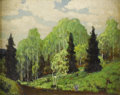 Paintings, DWIGHT HOLMES (1900-1986). Untitled Landscape. Oil on canvasboard. 8in. x 10in.. Signed lower left. A small but very well ...
