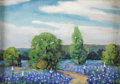 Texas:Early Texas Art - Impressionists, DWIGHT HOLMES (1900-1986). Voca, Texas Bluebonnets, 1982.Oil on canvasboard. 5in. x 7in.. Signed lower left. Titled ver...