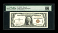Small Size:World War II Emergency Notes, Fr. 2300* $1 1935A Hawaii Silver Certificate. PMG Gem Uncirculated66 EPQ.. The last PMG 66 we handled sold for a touch more...