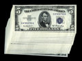 Small Size:Silver Certificates, Fr. 1655 $5 1953 Silver Certificates. Thirty-five Examples. Choice Crisp Uncirculated.. These notes are crackling fresh and ... (Total: 35 notes)