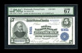 National Bank Notes:Pennsylvania, Pittsburgh, PA - $5 1902 Plain Back Fr. 598 The Mellon NB Ch. #6301. Crackling fresh, fully embossed, and with great ey...
