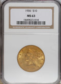 Liberty Eagles: , 1906 $10 MS63 NGC. NGC Census: (66/28). PCGS Population (86/26). Mintage: 165,497. Numismedia Wsl. Price for NGC/PCGS coin ...