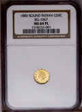 California Fractional Gold: , 1880/70 50C Indian Round 50 Cents, BG-1067, Low R.4, MS64 NGC. NGCCensus: (2/0). PCGS Population (22/3). (#10896)...