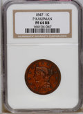 Proof Large Cents: , 1847 1C PR64 Red and Brown NGC. NGC Census: (1/0). PCGS Population(2/1). Mintage: 12. (#1971)...