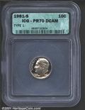 Proof Roosevelt Dimes: , 1981-S 10C TYPE 1, DC