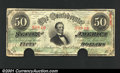 Confederate Notes:1863 Issues, 1863 $50 Black with green overprint; Jefferson Davis, T-57, VF,...