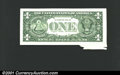 Error Notes:Printed Tears, 1995 $1 Federal Reserve Note, Fr-1922-B, XF. A cool printed fol...