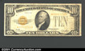 Small Size:Gold Certificates, 1928 $10 Gold Certificate, Fr-2400*, Fine. ...