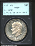 Proof Eisenhower Dollars: , 1971-S S$1 SILVER
