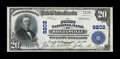 National Bank Notes:Pennsylvania, Riegelsville, PA - $20 1902 Plain Back Fr. 652 The First NB Ch. #9202. ...