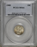 Barber Dimes: , 1908 10C MS66 PCGS. PCGS Population (22/1). NGC Census: (9/4).Mintage: 10,600,545. Numismedia Wsl. Price for NGC/PCGS coin...