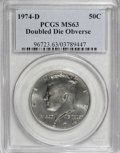 Kennedy Half Dollars: , 1974-D 50C Doubled Die Obverse MS63 PCGS. PCGS Population (48/299).(#96723)...