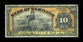 Canadian Currency: , Hamilton, ON- Bank of Hamilton $10 June 1, 1909 Ch. # 345-20-08....