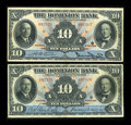 Canadian Currency: , Toronto, ON- The Dominion Bank $10 (2) Feb. 1, 1931 Ch. #220-24-06, 220-24-08. ... (Total: 2 notes)