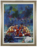 Paintings, LEROY NEIMAN (American b.1927). Tyson vs. Spinks Once and For All, 1988. Acrylic on canvas. 48 x 35 in.. Signed lower ce...