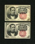 Fractional Currency:Fifth Issue, Fr. 1265 10c Fifth Issue New. Fr. 1266 10c Fifth Issue New.. ...(Total: 2 notes)