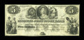 Canadian Currency: , Toronto, UC- The Farmer's Joint Stock Banking Company $5 Feb. 1,1849 Ch. # 280-14-02-06. ...