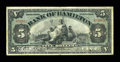 Canadian Currency: , Hamilton, ON- Bank of Hamilton $5 June 1, 1909 Ch. # 345-20-02. ...