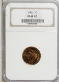 Proof Indian Cents: , 1901 1C PR66 Red NGC. NGC Census: (10/5). PCGS Population (20/7). Mintage: 1,985. Numismedia Wsl. Price for NGC/PCGS coin i...