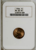 Indian Cents: , 1906 1C MS66 Red NGC. NGC Census: (32/1). PCGS Population (14/1).Mintage: 96,022,256. Numismedia Wsl. Price for NGC/PCGS c...