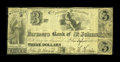 Canadian Currency: , St. Johns, LC- Farmers Bank of St. Johns $3 Ch. # 295-12-06R . ...