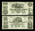 Canadian Currency: , Toronto, UC- The Exchange Bank of Toronto $2, $5 May 1, 1855 Ch. # 255-10-04R, 255-10-06R. ... (Total: 2 notes)