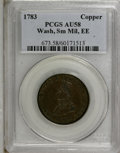 Colonials: , 1783 1C Washington & Independence Cent, Small Military Bust,Engrailed Edge AU58 PCGS. PCGS Population (5/2). NGC Census: (...