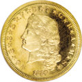 Proof Four Dollar Gold Pieces, 1880 $4 Flowing Hair, Judd-1657, Pollock-1857, R.6, PR66 Cameo NGC....