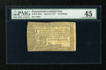 Colonial Notes:Pennsylvania, Pennsylvania April 10, 1777 16s PMG Choice Extremely Fine 45....