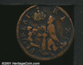 Undated (ca. 1670-1675) St. Patrick farthing Fine 12 Corroded Uncertified. Breen-218. 5.03 grams. A dark brown example w...